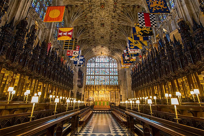 Eugenie and Jack's family members and friends will be seated in the quire Photo (C) GETTY