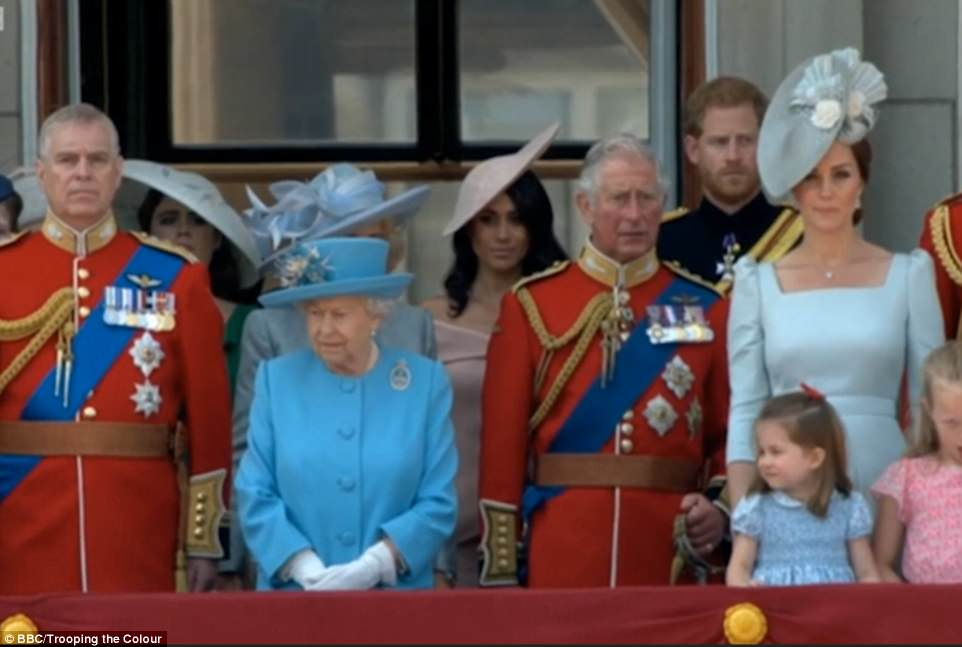 The Duke and Duchess of Cambridge with Princess Charlotte and Prince George with other members of the Royal Family on the balcony of Buckingham Palace at Trooping The Colour, London. Photo credit should read: Doug Peters/EMPICS