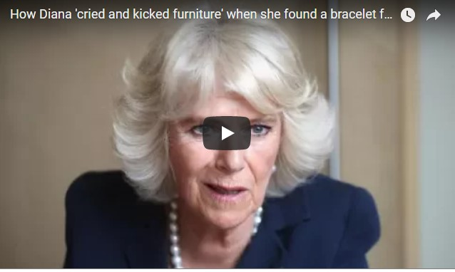 How Diana 'cried and kicked furniture' when she found a bracelet for Camilla