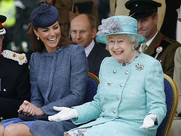 Kate Middleton had her first solo engagement with the Queen in 2012 Photo (C) GETTY