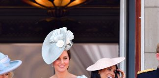 Kate and Meghan pictured on the Buckingham Palace balcony in June Photo C GETTY
