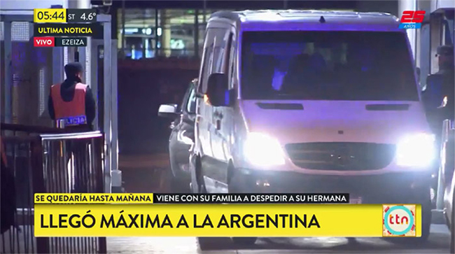 Local media have reported the familys arrival in Argentina Photo C GETTY