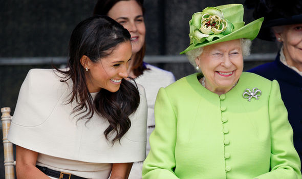 Meghan Markle She has been pictured laughing and joking with the Queen Photo (C) GETTY