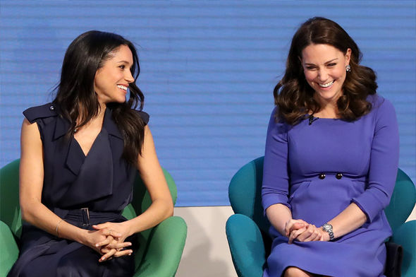 Meghan Markle and Kate Middleton Body language expert told Express.co.uk their professional opinion Photo (C) GETTY