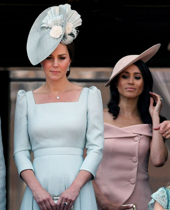 Meghan Markle and Kate Middleton Both women appeared at Trooping the Colour Photo (C) GETTY