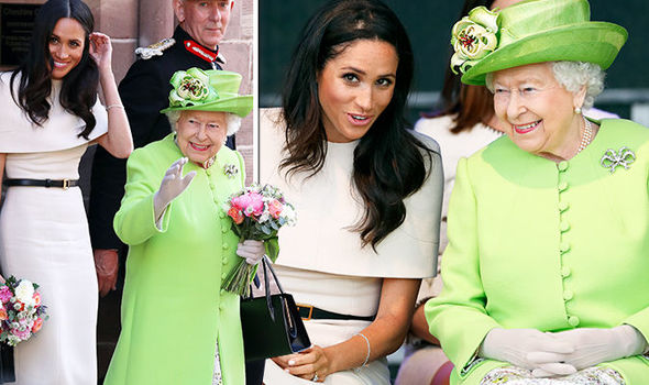 Meghan Markle and the Queen got on like a house on fire on their trip to Cheshire Photo (C) GETTY