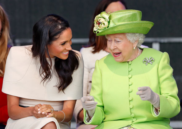 Meghan Markle attended her full day of engagements with the Queen last week Photo (C) GETTY