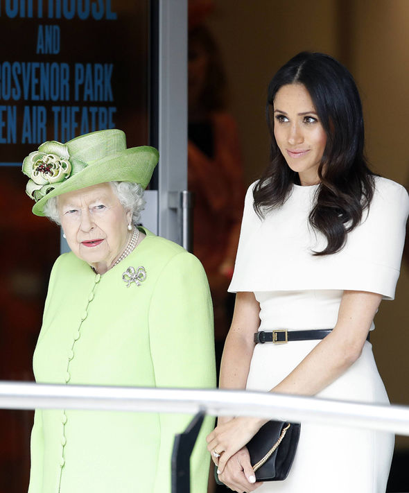 Meghan Markle has been bonding with her grandmother-in-law, the Queen Photo (C) PA