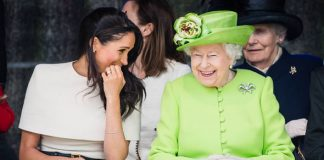 Meghan Markle shared a giggle with the Queen Photo (C) REUTERS