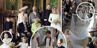 Meghan Markle was joined by her 10 bridesmaids and pageboys Photo C REUTERS GETTY
