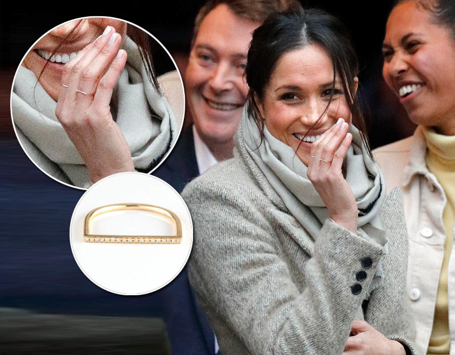 Meghan Markle wears Zofia Day Bar Stack Ring - £513 Photo (C) GETTY