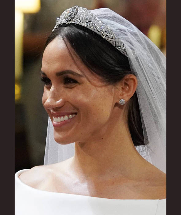 Meghan Markle wore Queen Mary's tiara on her wedding day Photo (C) PA