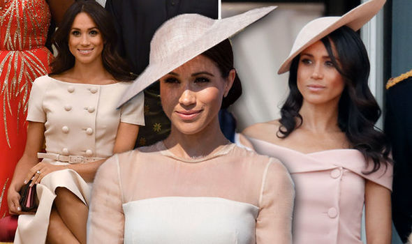 Meghan has worn shades of pink to most royal engagements following her wedding Photo (C) GETTY