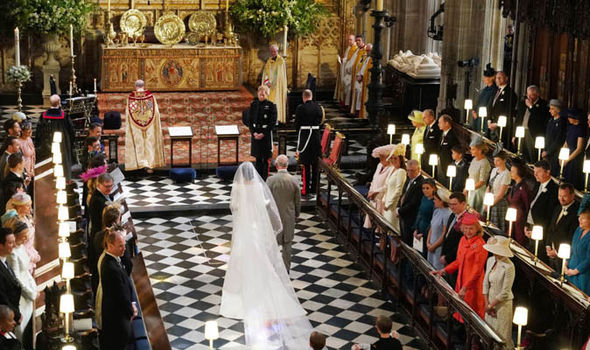 Meghan was walked down the aisle by Prince Charles Photo (C) GETTY