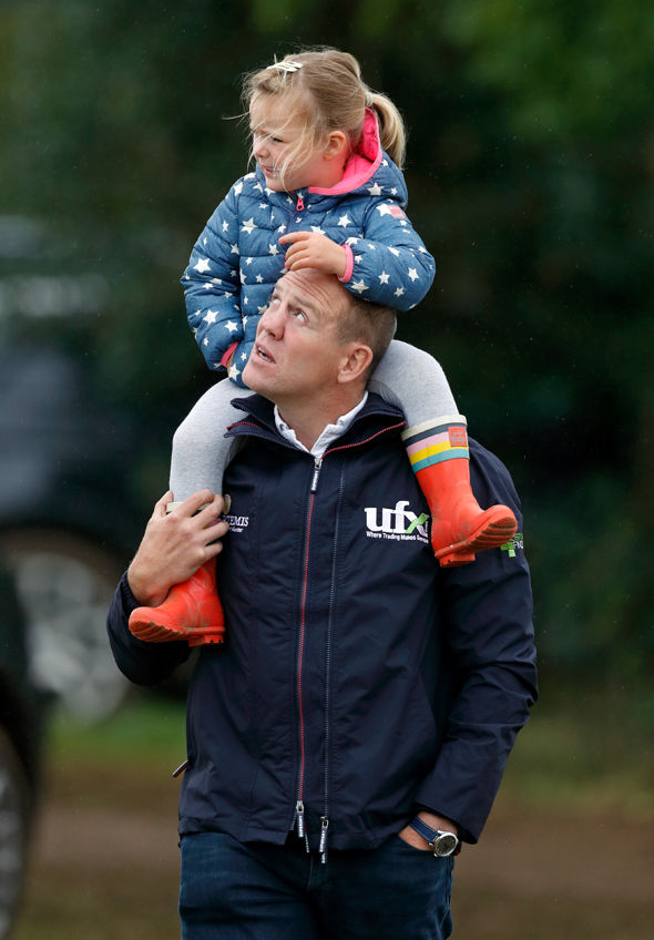 Mike Tindall with daughter Mia Photo (C) GETTY