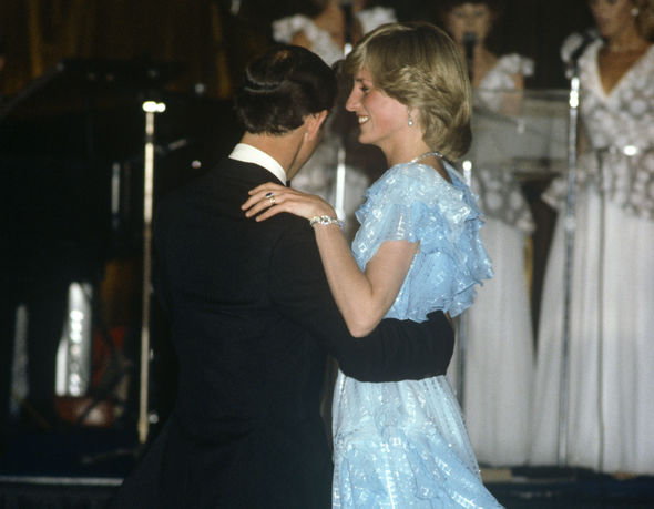Prince Charles and Princess Diana shared a dance during a charity ball in Australia Photo (C) GETTY