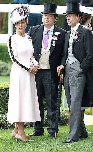 Prince Edward and the Countess of Wessex made up the royal party. Photo (C) Getty Images