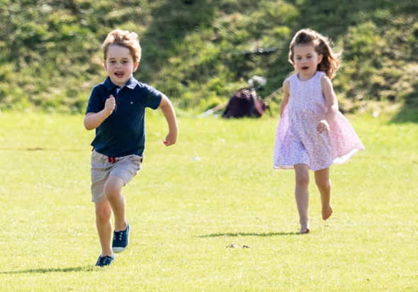 Prince George and Princess Charlotte seen enjoying the sunshine Photo (C) GETTY