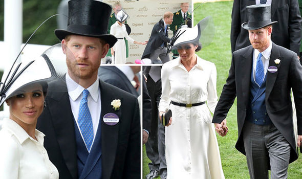 Prince Harry Harry could not let go of his new wife Meghan Markle's hand as the pair attended Ascot Photo (C) GETTY, WENN