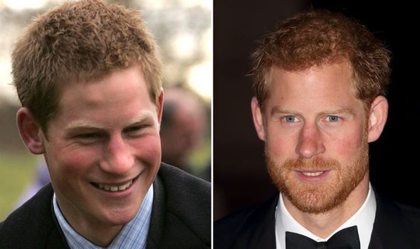 Prince Harry eyebrows They look very different now to in 2005 Photo (C) GETTY