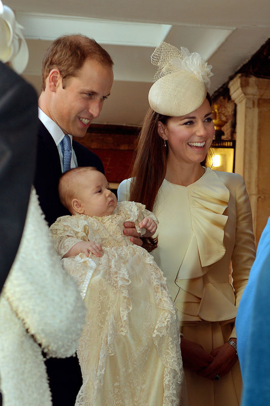 Prince Louis is to be christened at the same church as Prince George Photo (C) GETTY
