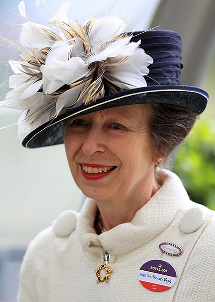 Princess Anne went to Toronto and back in a day on Sunday Photo (C) GETTY