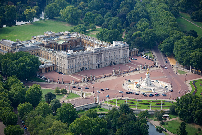 Renovations are taking place on Buckingham Palace Photo (C) GETTY
