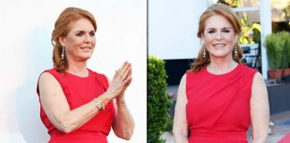 Sarah Ferguson Duchess of York Flame haired Duchess wore her signature colour to the event in Italy Photo C GETTY
