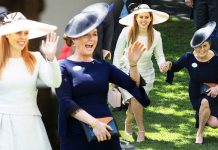 Sarah Ferguson arrives at Royal Ascot with Princess Beatrice Photo (C) REX, HATLERY