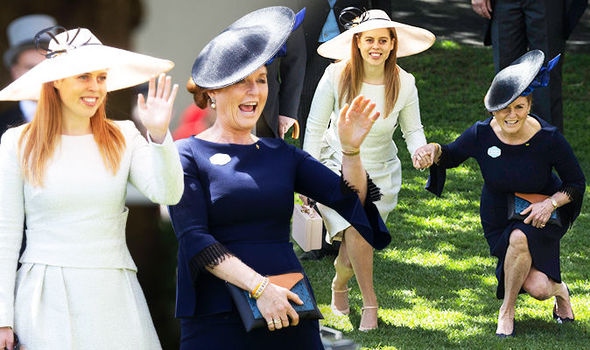 Sarah Ferguson arrives at Royal Ascot with Princess Beatrice Photo (C) REX, HATLERY