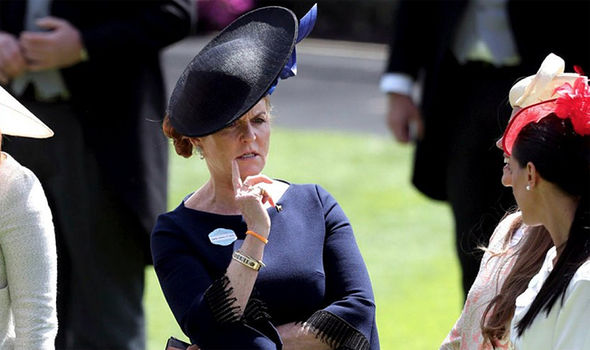 Sarah Ferguson wore a navy blue for Day 4 of Royal Ascot Photo (C) PA