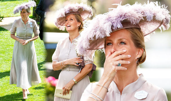 Sophie Countess of Wessex at Ascot Did she wear Diana's ring, which Meghan wore Photo (C) GETTY