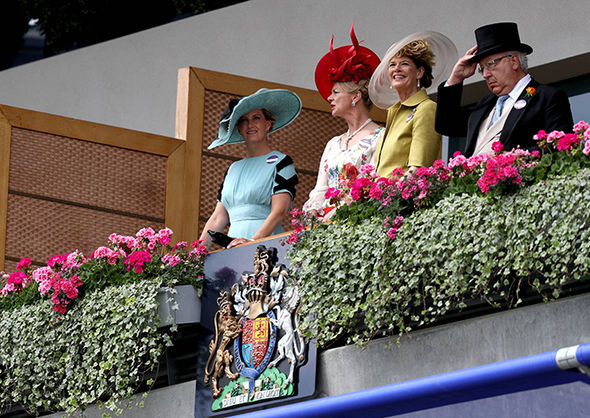 Sophie, Countess of Wessex, joined the Queen for a second day at the races Photo (C) PA