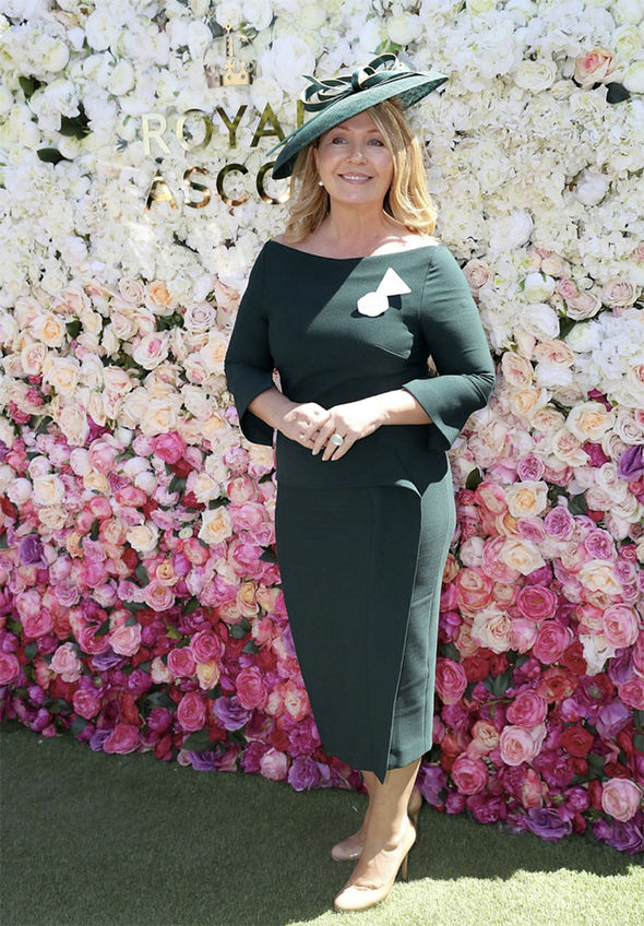 TV presenter and radio host Kirsty Young opted for a less summery, more chic look Photo (C) PA