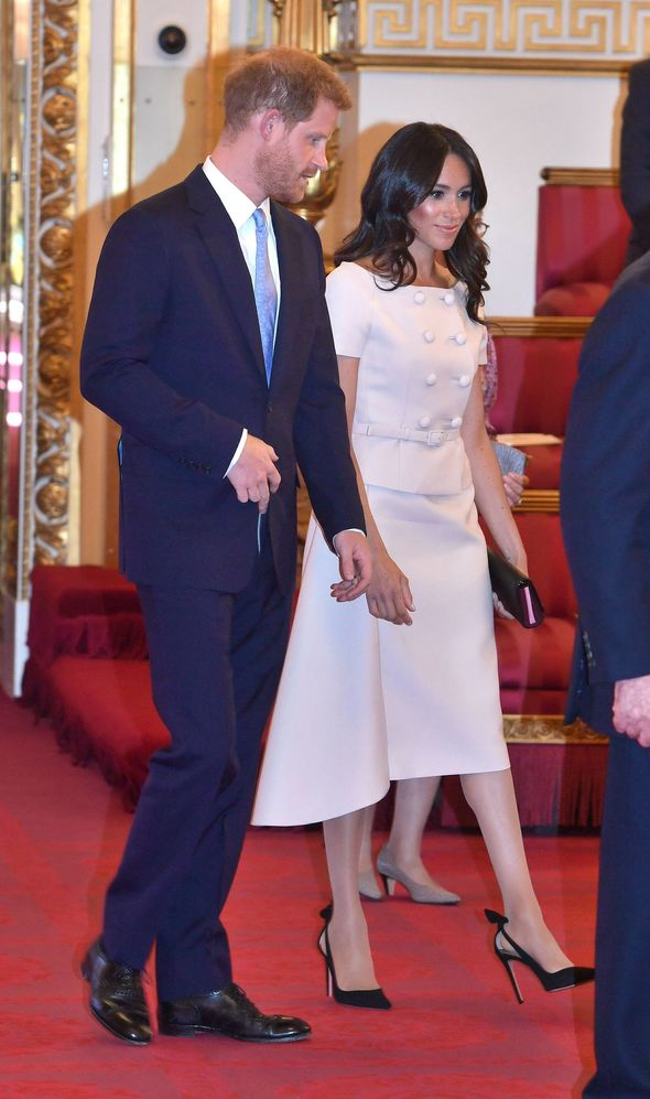 The Duke and Duchess of Sussex arriving the Queen's Young Leaders Awards Photo (C) PA