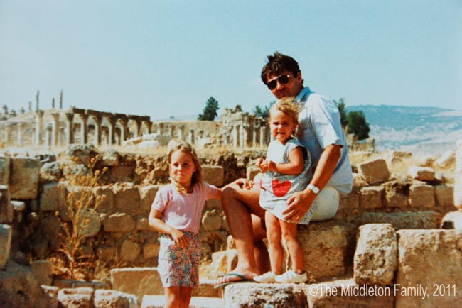 The Middletons when they lived in Jordan Photo (C) MIDDLETON FAMILY