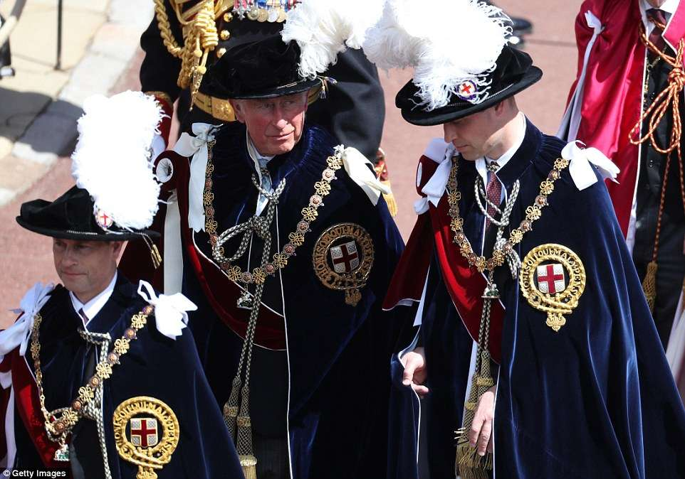 The Queen and Prince Charles, as sovereign and heir, are automatically given membership of the Order and are considered 'ex officio knights' with the power to admit new members