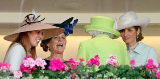 The Queen and Sarah Ferguson laugh and joke together at Royal Ascot Photo C GETTY