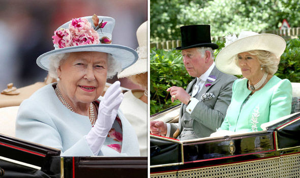 The Queen arrives at Royal Ascot with Charles and Camilla Photo (C) PA, GETTY