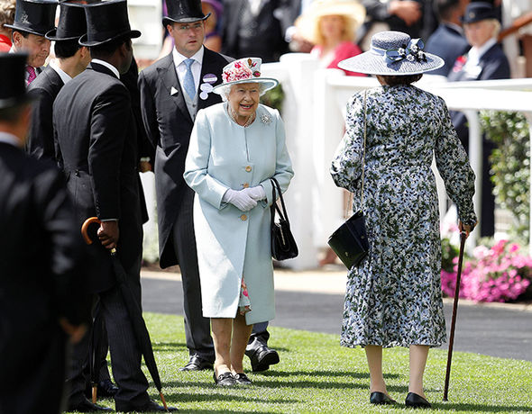 The Queen looked on fine form at her favourite sporting event of the year Photo (C) REUTERS