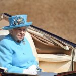 The Queen wore a cornflower blue look for the Trooping the Colour. (Photo Getty Images)