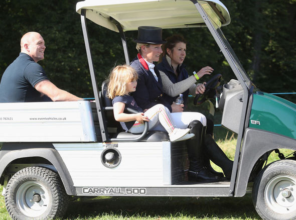 The Tindall family are often photographed supporting Zara when she competes in horse riding events Photo (C) GETTY