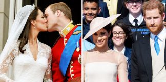 The balcony is famous for Royal couples making an appearance after they wed Photo C GETTY