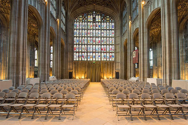 The chapel has a capacity of around 600 guests Photo (C) GETTY