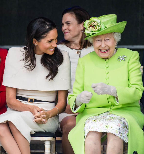 The chemistry seems very genuine between Meghan and the Queen Photo (C) GETTY