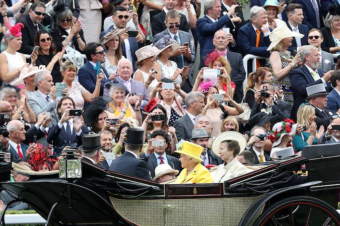 The monarch, who has described Royal Ascot as this wonderful racecourse Photo (C) Getty Images