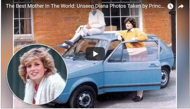 Unseen Diana Photos Taken by Prince William Royal Update