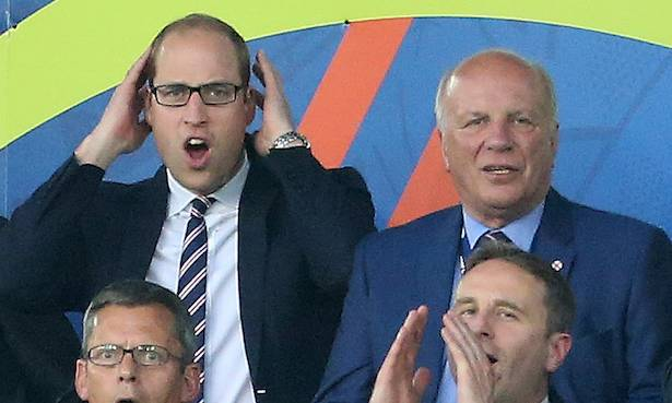 You'll never guess where Prince William watched the World Cup game Photo (C) GETTY
