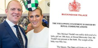 Zara Tindalls birth of her second child has sparked a sexism row Photo C MARC GRIMWADEBUCKINGHAM PALACE