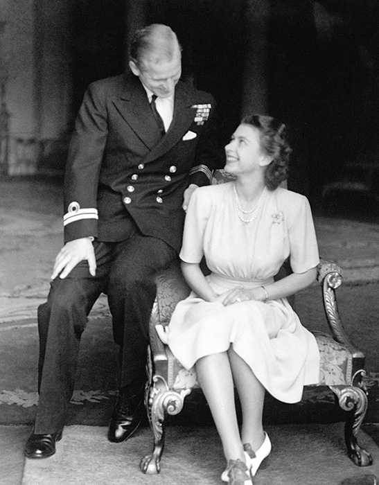 The Queen and Prince Philip announced their engagement on 9 July 1947 Photo (C) GETTY